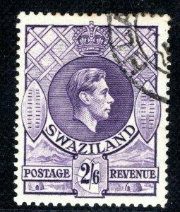 SWAZILAND KGVI Stamp 2s/6d High Value Used BLBLACK60