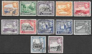 Cyprus 143-151 Used - George VI - Short Set