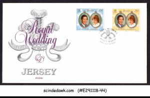 JERSEY - 1981 ROYAL WEDDING OF PRINCE CHARLES - FDC UNADDRESSED