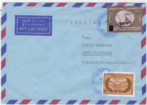 Salvador 1967 air mail stamps cover R20400