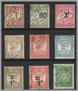 ALGERIA - 10 Old Postage Due stamps - three types - see scan