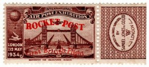 (I.B) Cinderella Collection : Rocket Post (APEX 1934)