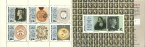 1990 Marshall Islands 376a complete Penny Black 150th Anniversary booklet MNH