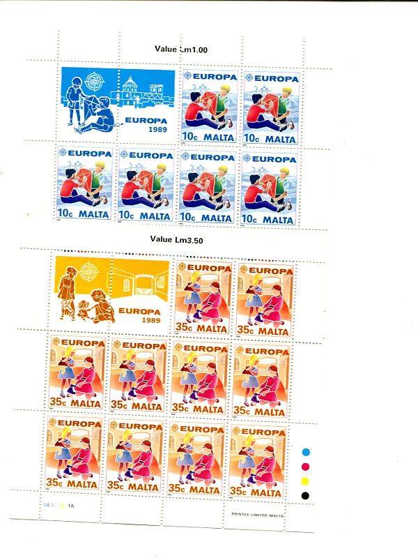Malta  1989  mini sheet Mint   VF NH
