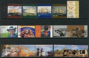 AUSTRALIA Sc#1630//1715 1998 Year with 15 Sets & 4 S/S OG MNH