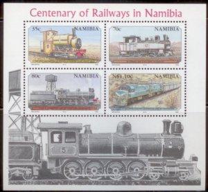 Namibia 1995  SC# 774-7a Trains S/S MNH L189