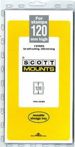 Prinz Scott Stamp Mount 120/240 - BLACK Background - Pack of 7