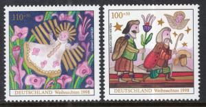 Germany B842-B843 Christmas MNH VF