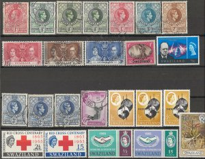 COLLECTION LOT OF #1770 SWAZILAND 24 STAMPS 1933+ CLEARANCE