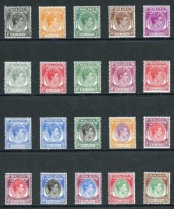 Malacca SG3/17 1949 Set of 20 Fresh M/Mint