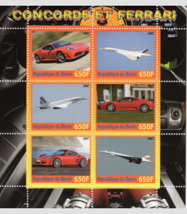 CONCORDE & Ferrari Sheet Perforated Mint (NH)