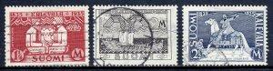 Finland - Scott #207-209 - Used - SCV $7.40