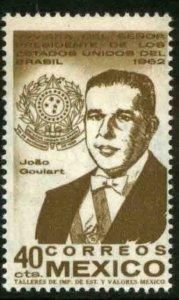 MEXICO 921, Visit of President Joao Goulart of Brazil MINT, NH. VF.