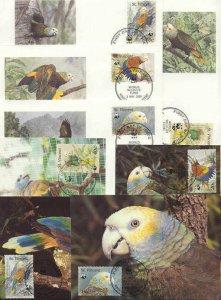 St.Vincent 8 FDC/cards WWF/Birds(Parrots) 1989