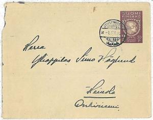 FINLAND - POSTAL STATIONERY cover - 1930's