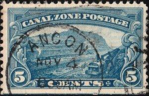 CANAL ZONE - 1929 Sc.107 5c blue - VF Used (920u)