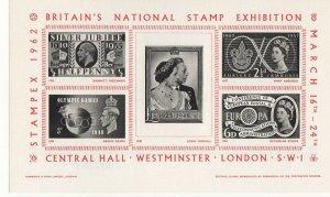 Britain STAMPEX 1962 Souvenir Sheet London MNH