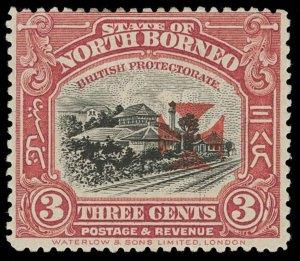 North Borneo Scott B4 Variety Gibbons 204a Mint Stamp