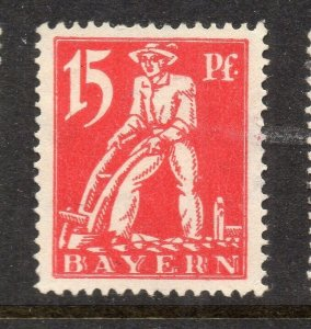 Bavaria Bayern 1920 Early Issue Fine Mint Hinged 15pf. NW-15265