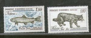 Andorra 1982-3 Fish Wild Big Cat Nature Protection Wildlife Sc 300,306 MNH #3393