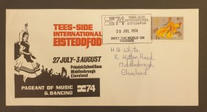 Great Britain Cover Tees-Side International Eisteddfod 1974