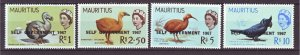 J22165 Jlstamps 1967 mauritius hv,s of set mh #317-20 ovpt,s