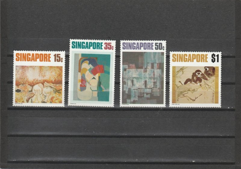 Singapore  Scott#  153-156  MH  (1972 Paintings)