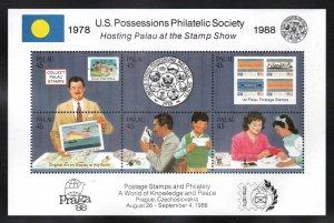 Palau # 197 a-f ~  Sheet of 6  ~ Mint, NH