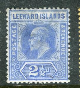 LEEWARD ISLANDS; 1907 early Ed VII issue fine Mint hinged 2.5d. value