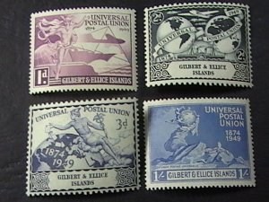 GILBERT & ELLICE ISLES # 56-59-MINT/HINGED--COMPLETE SET--1949