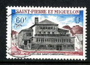 ST. PIERRE & MIQUELON 388 USED SCV $9.50 BIN $3.25