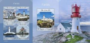 Z08 ST190302ab Sao Tome and Principe 2019 Lighthouses MNH ** Postfrisch