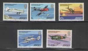 Jersey Sc 208-12 1979 Air Rally Planes stamps  NH