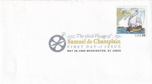 2006, Voyage of Samuel de Champlain, USPS, FDC (E12274)