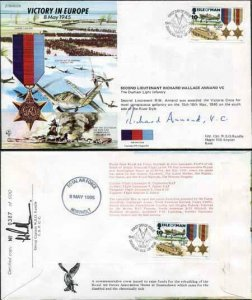 JS45/12A Victory in Europe sign by 2nd Lt Richard Wallace Annand VC (P)