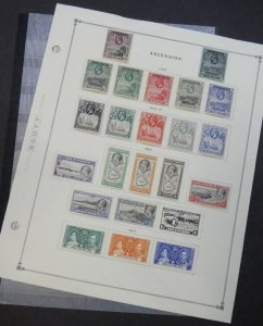 EDW1949SELL : ASCENSION Very nice mostly Mint collection w/ many Better Cat $342
