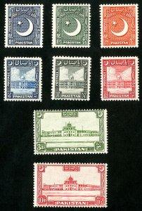 Pakistan Stamps # 47-54 XF MNH