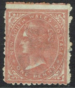 NEW SOUTH WALES 1871 QV 1D WMK CROWN/NSW SG W36 PERF 13