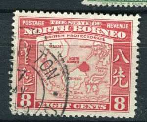 NORTH BORNEO; 1939 early pictorial issue fine used 8c. value Postmark