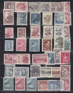 CZECHOSLOVAKIA  ^^^^^x42 used  collection  on  stock page  $$@ ta100cza