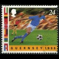 GUERNSEY 1996 - Scott# 567a European Soccer 24p Used