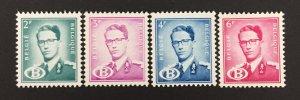Belgium 1954-60 #o58//63, Royalty, MNH-see note.