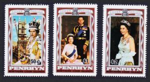 Penrhyn Silver Jubilee 3v SG#100-102 SC#87-89