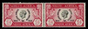 SOUTH AFRICA GV SG66, 1d black & carmine, M MINT.
