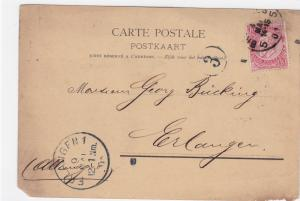Belgium 1901  stationary  stamped post card  R20381