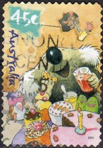Australia 2013 - Used - 45c Koala With Birthday Cake (2001) (cv 0.80)