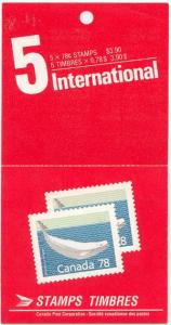 Canada - 1990 78c Beluga Whale Booklet #BK117