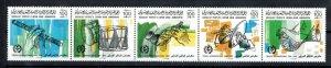 1986 - Libya- The 24th International Trade Fair, Tripoli- Music-Strip of 5 MNH**