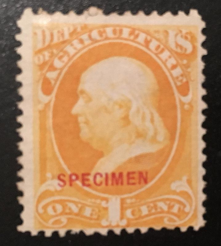 O1sd Agriculture Franklin Specimen, Vic's Stamp Stash