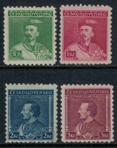 Czechoslovakia #187-90*  CV $32.25